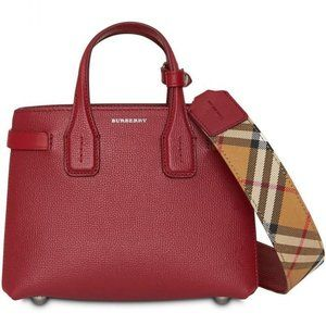 Burberry  Crimson Leather Baby Banner Nova Check